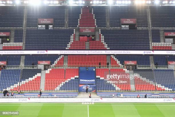 Illustration picture of Parc des Princes during the Ligue 1 match between Paris Saint Germain and Dijon FCO at Parc des Princes on January 17 2018 in...