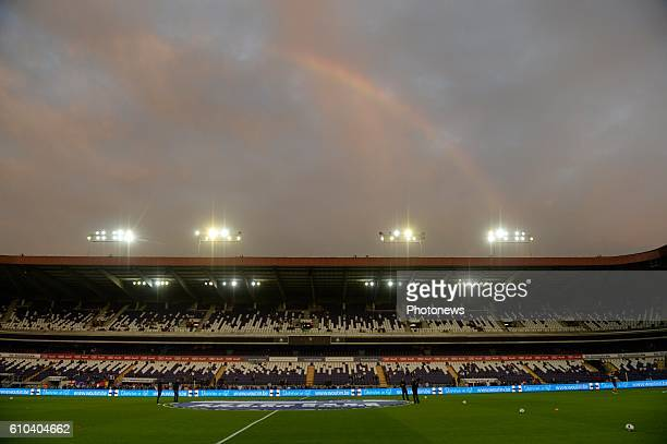 Illustration picture of rain bow on the Constant Vanden Stock stadium pictured during Jupiler Pro League match between RSC Anderlecht and KVC...