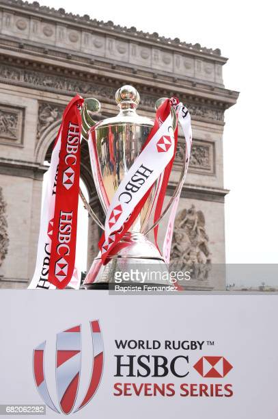 Illustration picture of th Cup during Captains photocall and press conference prior to the Hsbc Paris Rugby Sevens on May 11 2017 in Paris France