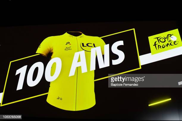 Illustration picture of the 100 years of the yellow jersey during the presentation of the Tour de France 2019 at Palais des Congres on October 25...