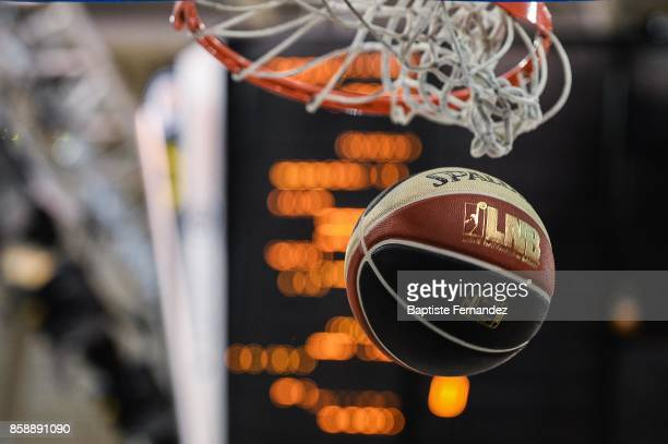 Illustration picture of the ball in the basket during the Pro A match between Levallois and Limoges on October 7 2017 in LevalloisPerret France