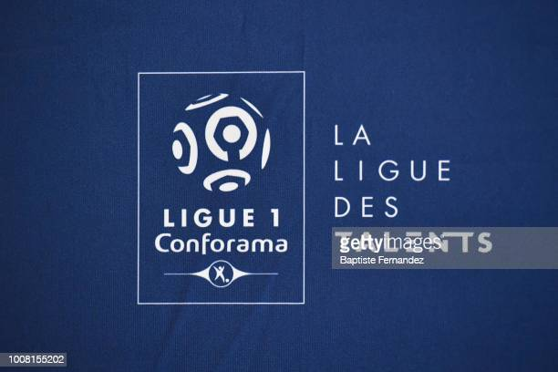 """Illustration picture of the new tagline of the Ligue 1 Conforama: """"La Ligue des Talents"""" during the LFP press conference for the opening of the Ligue..."""