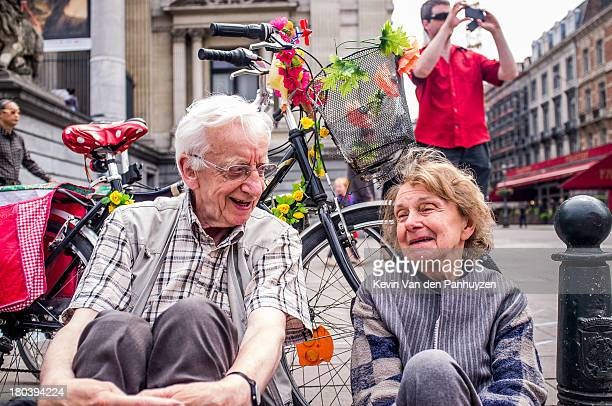 "Illustration picture shows a couple at ""Pic Nic The Streets"" in Brussels,9th june 2013. A pic nic was held on the street in the center of Brussels,..."