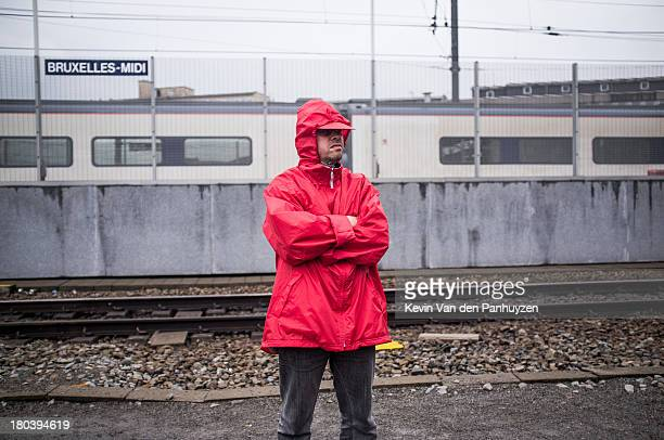 CONTENT] Illustration picture shows a railworker on strike in the Brussels South Railway Station 27th june 2013 In the entire country railworkers are...