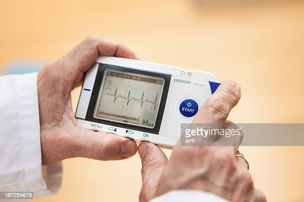 Illustration picture shows an electronic medical device used to test for arrhythmia on April 23 in Brussels AFP PHOTO / BELGA / SISKA GREMMELPREZ