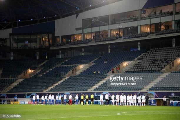 Illustration picture shows an empty Ghelamco Arena Stadium during the UEFA Champions League PlayOff first leg match between KAA Gent and Dynamo Kyiv...