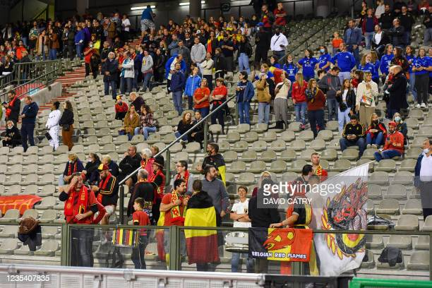 Illustration picture shows fans and supporters during a soccer game between Belgium's national team the Red Flames and Albania, Tuesday 21 September...