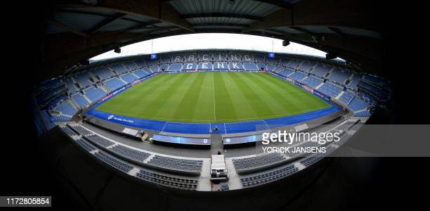 Illustration picture shows Genk's Luminus Arena before a press conference of Italian club SSC Napoli Tuesday 01 October 2019 in Genk in preparation...