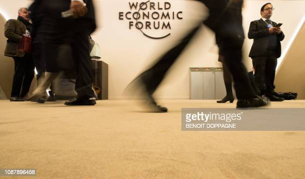 Illustration picture shows the 48th edition of the World Economic Forum annual meeting in Davos Switzerland Thursday 24 January 2019 The yearly...