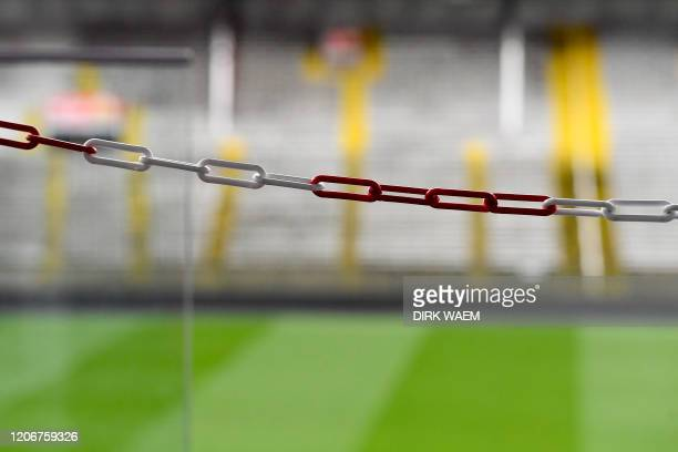 Illustration picture shows the Bosuil stadium of first league soccer team Royal Antwerp FC Thursday 12 March 2020 Pro League decided to play this...