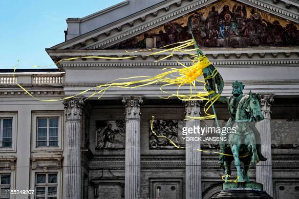 Illustration picture shows the Godfrey of Bouillon statue, at the start of the first stage of the 106th edition of the Tour de France cycling race...