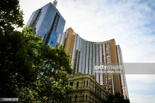 Illustration picture shows the Grand Hyatt hotel, one of the player's hotels, in Melbourne, Australia, Thursday 04 February 2021. All matches at...
