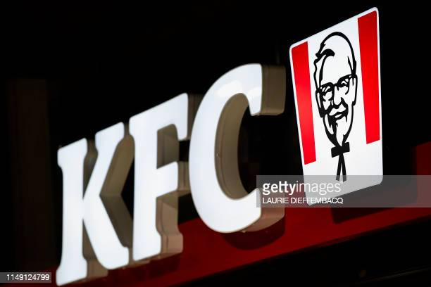 Illustration picture shows the opening day of the first Kentucky Fried Chicken fastfood restaurant in Belgium Wednesday 05 June 2019 in Brussels...