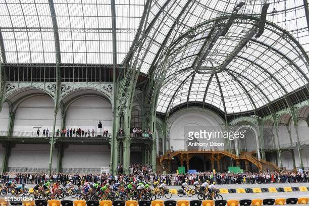 Illustration picture shows the pack of riders in action during the stage 21 from Montgeron to Paris at Avenue Des Champs Elysees on July 23 2017 in...
