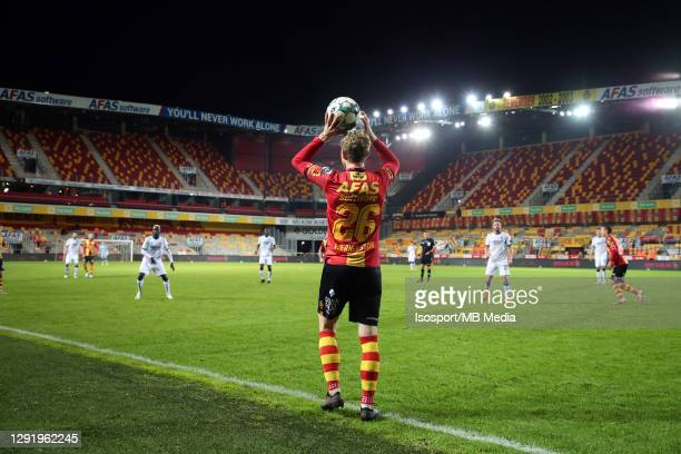 Illustration picture shows Victor Wernersson of KV Mechelen in an empty Afas Stadium during the Jupiler Pro League match between KV Mechelen and Club...