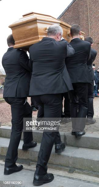 Illustration picture taken during the funeral service for Count Philippe de Lannoy at FrasnesLezAnvaing Wednesday 16 January 2019 The Count died at...