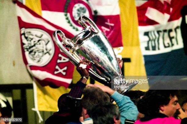 Illustration Players Ajax celebrate the victory with the trophy during the Champions League Final match between Ajax Amsterdam and Milan AC at...