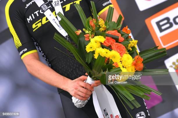 Illustration / Podium / Amanda Spratt of Australia and Team MitcheltonScott / during the 2nd LiegeBastogneLiege 2018 a 136km women's race from...
