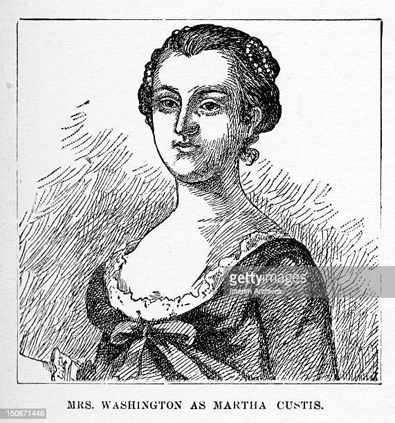 Illustration portrait of Martha Dandridge Custis who became the wife of George Washington the first president of the United States mid eighteenth...