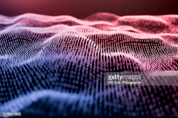 3d illustration rendering of binary code pattern abstract background.futuristic particles for business,science and technology - finance and economy stock pictures, royalty-free photos & images