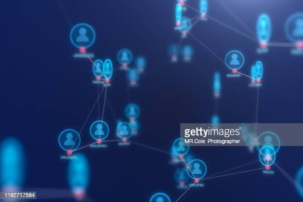 3d illustration rendering of people connection technology concept,futuristic  abstract background for business science and technology - customer engagement stock pictures, royalty-free photos & images