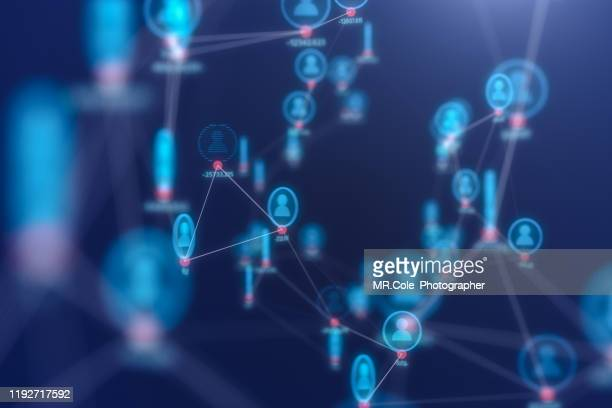 3d illustration rendering of people connection technology concept,futuristic  abstract background for business science and technology - community icon stock pictures, royalty-free photos & images