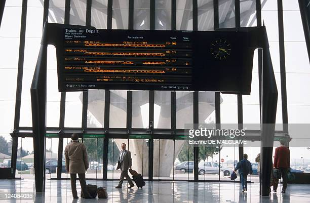 Illustration Satolas TGV station and airport In Lyon France In October 1997 TGV station