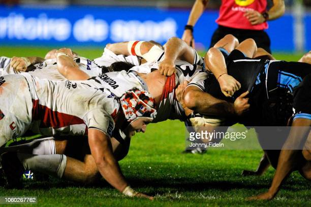 Illustration Scrum during the Pro D2 match between Massy and Oyonnax on November 9 2018 in Massy France