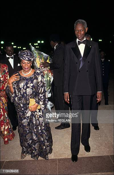 Illustration Senegal On July 1st 1991 President Abdou Diouf And His Wife