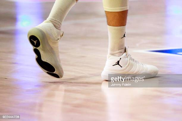 Illustration Shoes Air Jordan during the Final Leaders Cup match between Le Mans and Monaco at Disneyland Resort Paris on February 18 2018 in Paris...