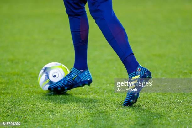 Illustration Shoes of Julian Draxler during the Ligue 1 match between Paris Saint Germain and Olympique Lyonnais at Parc des Princes on September 17...