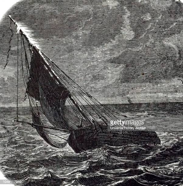 Illustration showing St. Elmo's fire on a ship at sea. St. Elmo's fire (also St. Elmo's light, is a weather phenomenon in which luminous plasma is...