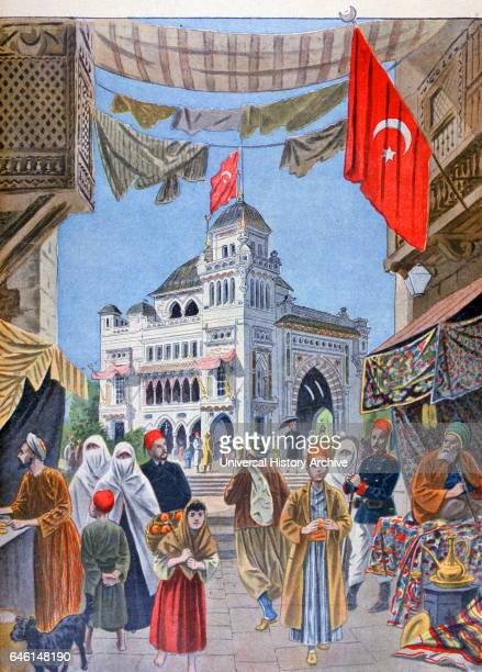 Illustration showing the Turkish Pavilion at the Exposition Universelle of 1900 This was a fair held in Paris France from 14 April to 12 November...