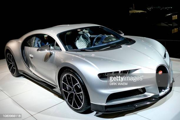 Illustration shows a Bugatti car during a press preview of the Dreams Cars palace ahead of start of the 97th edition of the Brussels Motor Show at...