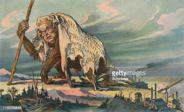 Illustration shows a large ape with human face wearing a sheep skin as a disguise text on the side of the cloak states 'High Protection and...