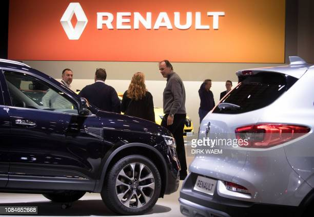Illustration shows a Renault cars during the opening day of the 97th edition of the Brussels Motor Show at Brussels Expo on Friday 18 January 2019 in...