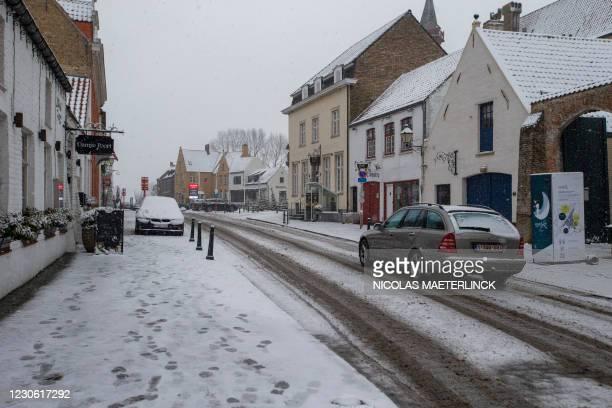 Illustration shows sneeuw damme a snowy winter landscape in Damme, in Flanders, Saturday 16 January 2021. BELGA PHOTO NICOLAS MAETERLINCK