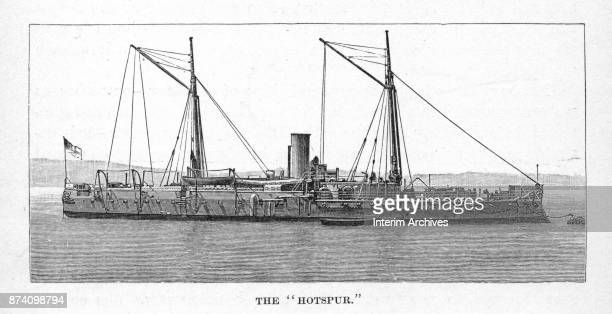 Illustration shows the British Navy's HMS Hotspur an ironclad ram The illustration appeared in the February 1886 edition of Harper's New Monthly...