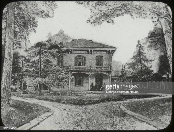 Illustration shows the exterior the home of lawyer Ninian Edwards and his wife Elizabeth Springfield Illinois 1800s The home Elizabeth was the older...