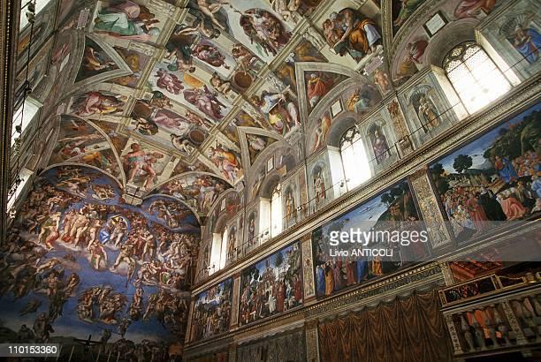 Illustration Sistine Chapelle in Rome Italy in December 10 1999