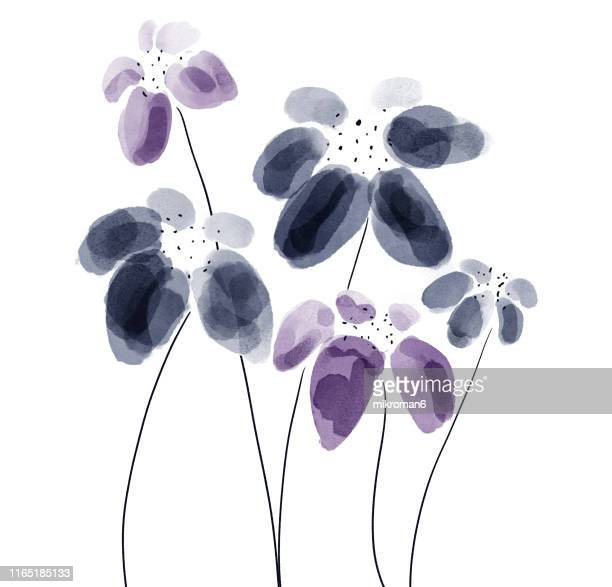 illustration sketch of flowers - art stock pictures, royalty-free photos & images