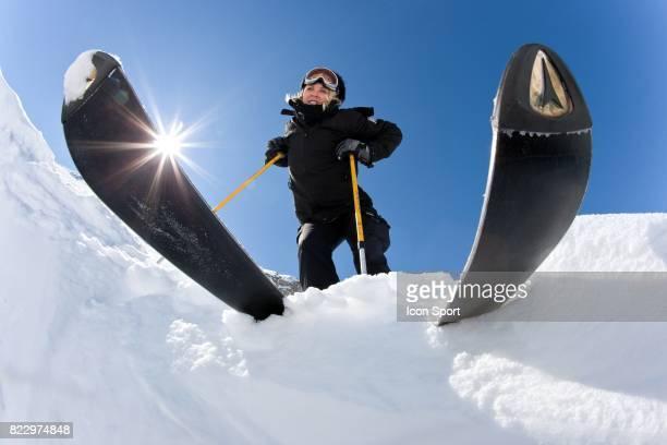 Illustration ski Auron Alpes Maritimes