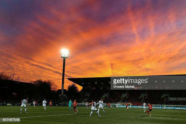 Illustration Stade du Moustoir during the semi-final French Cup between Lorient and Paris Saint-Germain at Stade du Moustoir on April 19, 2016 in...