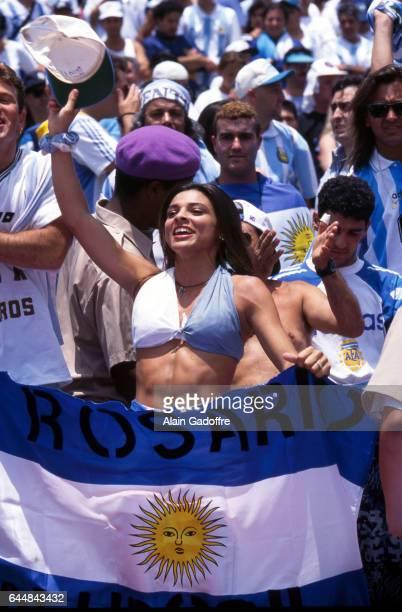 Illustration Supporters Argentine Argentine / Roumanie 1/8emeFinale Coupe du Monde 1994 Photo Alain Gadoffre / Icon Sport