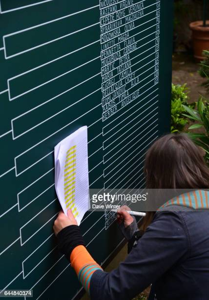Illustration Tableau Jour 1 Roland Garros 2015 Photo Dave Winter / Icon Sport