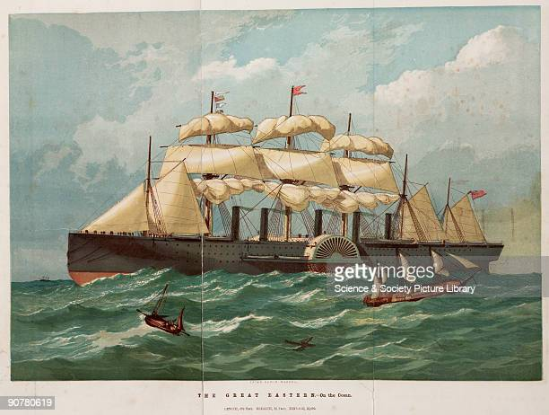 Illustration taken from �Pictorial history of the Great Eastern steamship� The �Great Eastern� designed by Isambard Kingdom Brunel and John Scott...