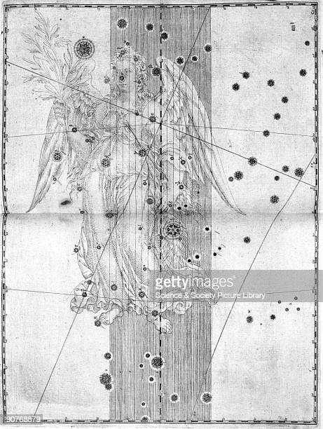 Illustration taken from 'Uranometria' by Johann Bayer showing the constellation of Virgo German astronomer and lawyer Johann Bayer invented the...