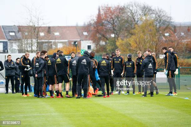 Illustration team picture during the press conference and training session of the Red Devils at the national training center on November 12 2017 in...