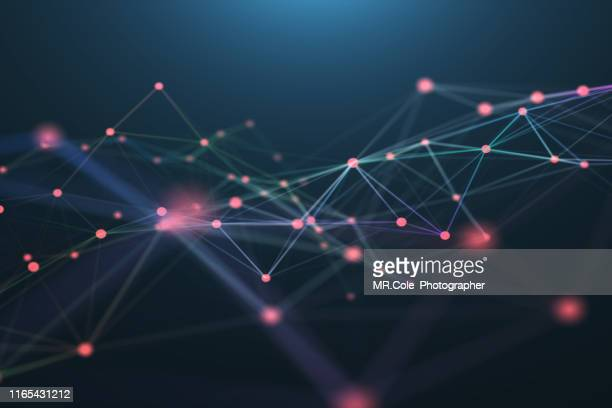3d illustration technology abstract background,futuristic digital landscape data analysis wave  .background for business, science and technology - atomic imagery stock pictures, royalty-free photos & images