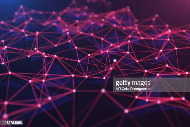 3d illustration technology abstract background,futuristic digital landscape data analysis wave  .background for business, science and technology - hud graphical user interface stock photos and pictures